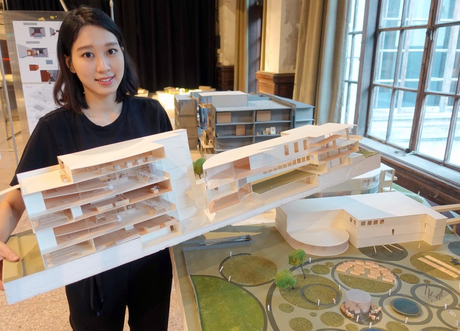 賴俐安以老年生活照護為題,探討如何將都市閒置空間有效結合幼兒照護與銀髮族長照.JPG