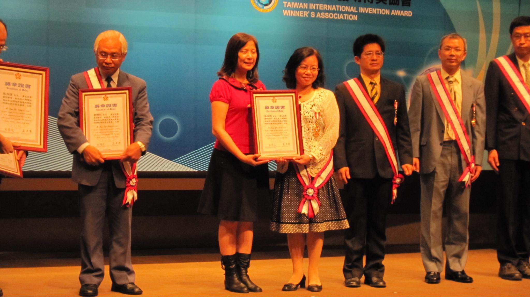 賀!化學系蔡宗燕教授榮獲「國際傑出發明家-學術國光獎章」