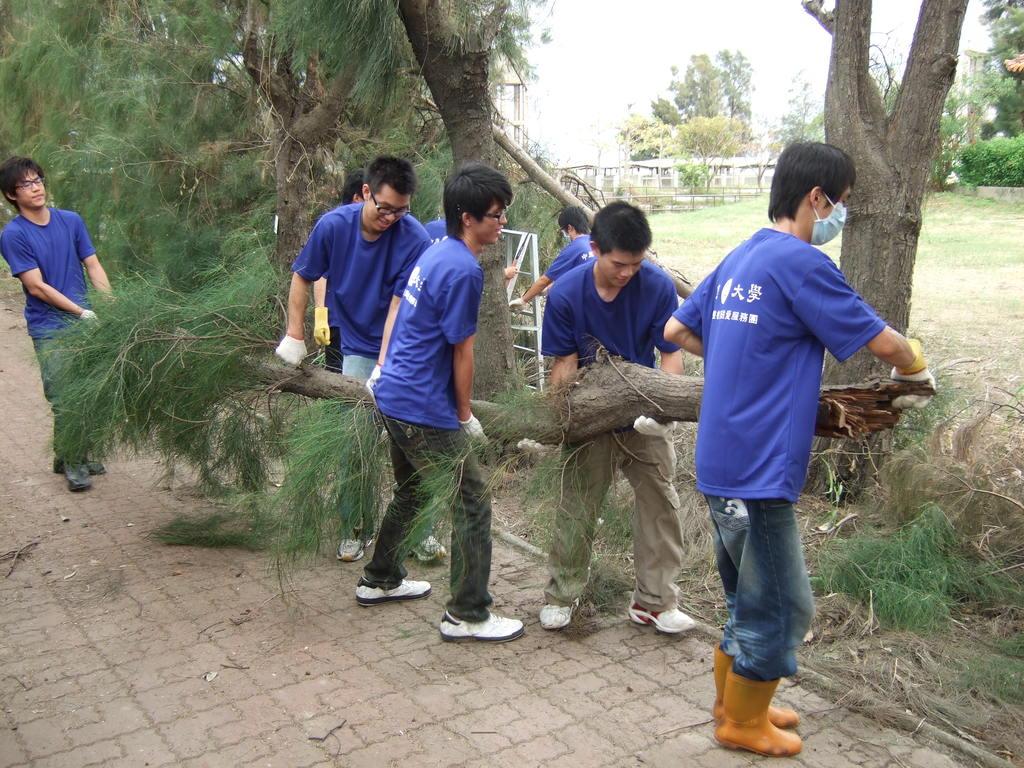 中原大學關心莫拉克風災 發揮服務學習力量 協助災區重建