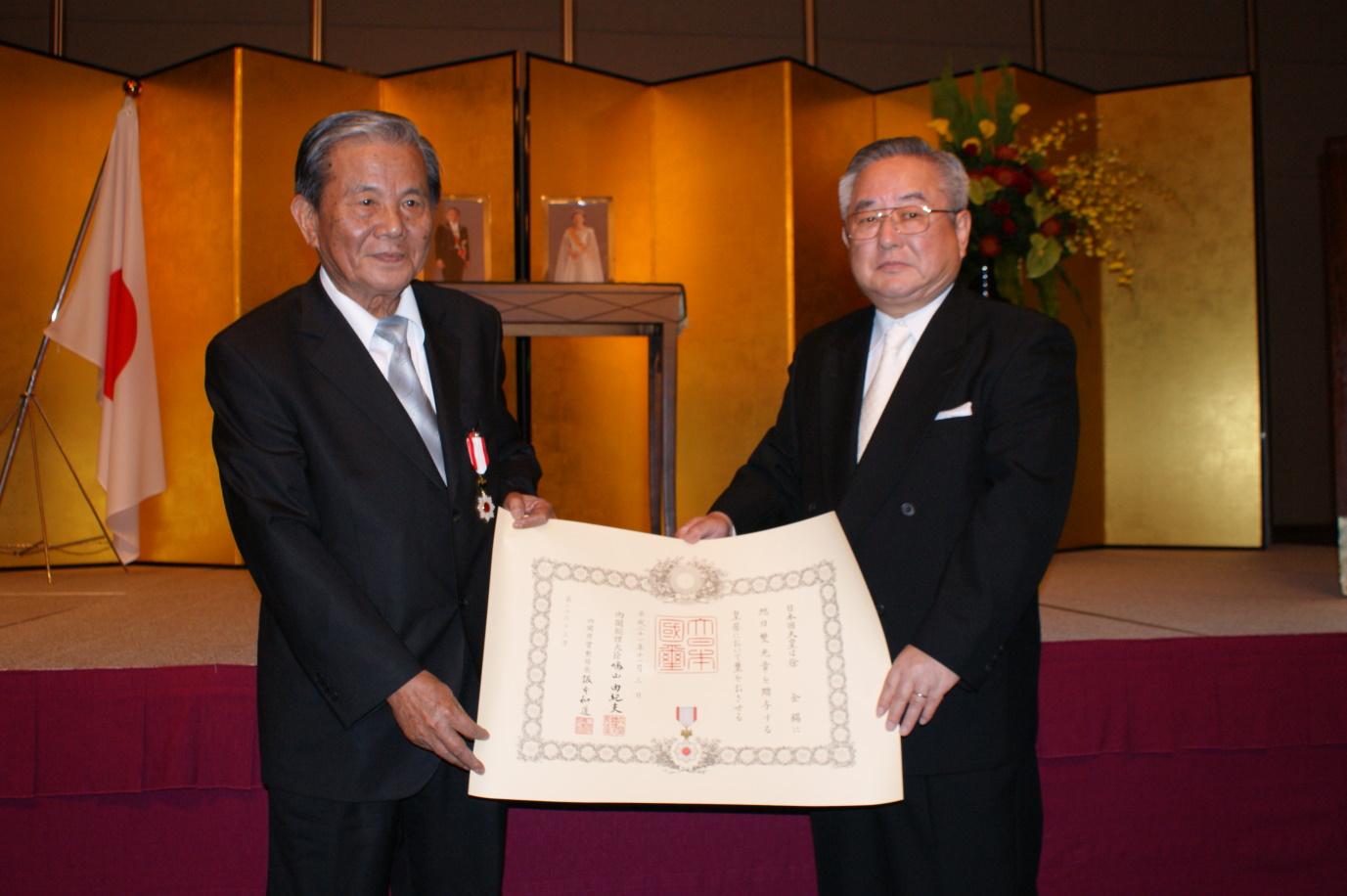 農田水利領航人 徐金錫校友榮獲日本「旭日雙光勳章」