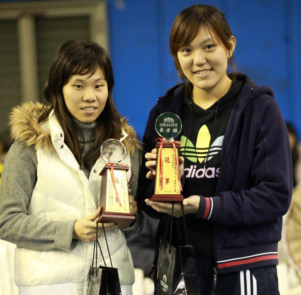 中原女網雙打冠軍 企研所雙姝勇奪東方錶盃第一名