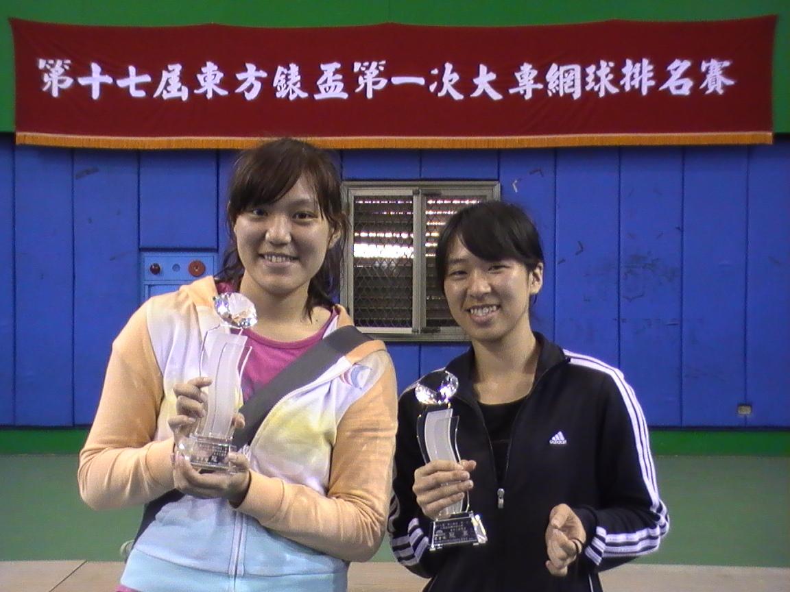 中原大學女網隊勇奪東方錶盃女子雙打冠軍