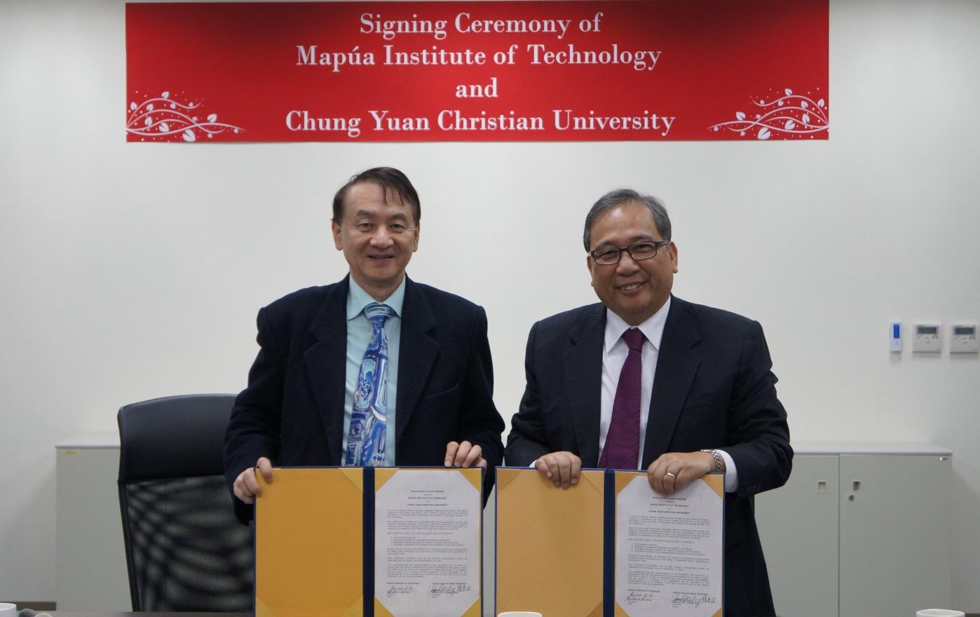 中原大學、菲律賓MAPUA大學 簽署跨國雙聯學位