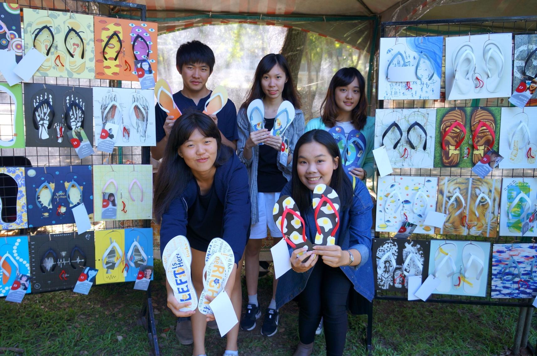 商設系學生創意夾腳拖 每件都是藝術品