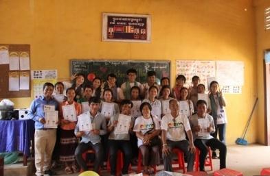 中原柬國服務隊 破落教室教英文