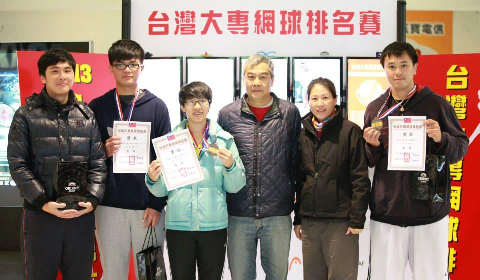 賀!中原網球好手參加「台灣大專網球排名賽」榮獲兩項第三名佳績