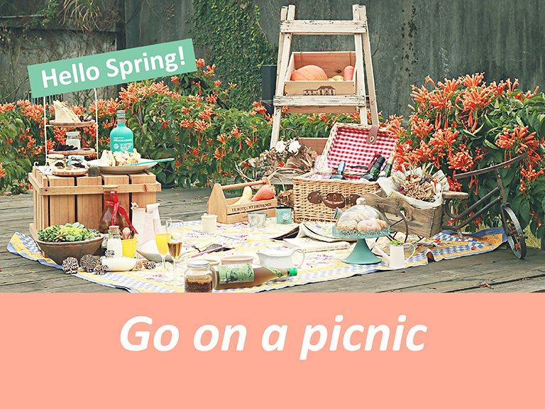 Hello Spring! Go on a picnic 來場春天的輕旅行!