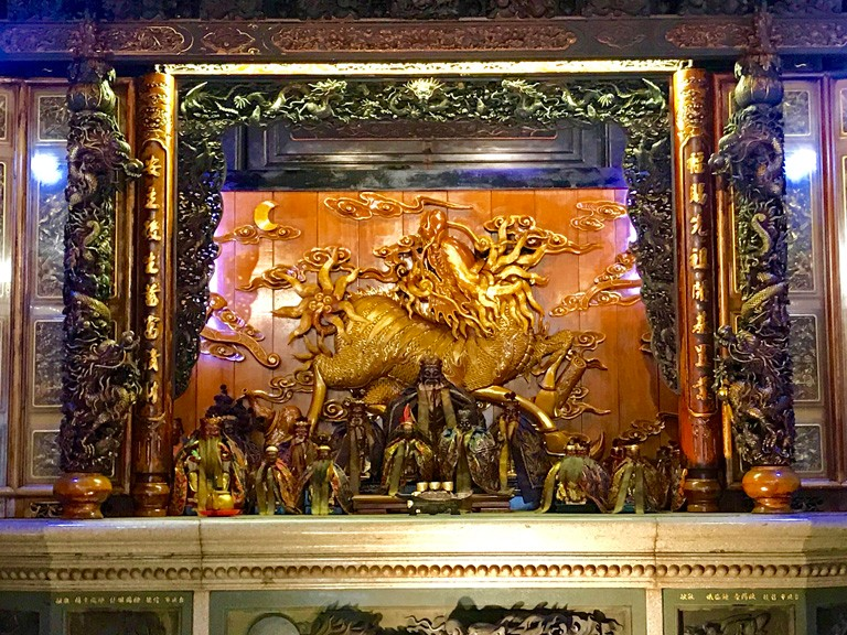 三峽福安宮 主殿內採黑檀木精緻雕刻   甘樂文創   甘之如飴,樂在其中