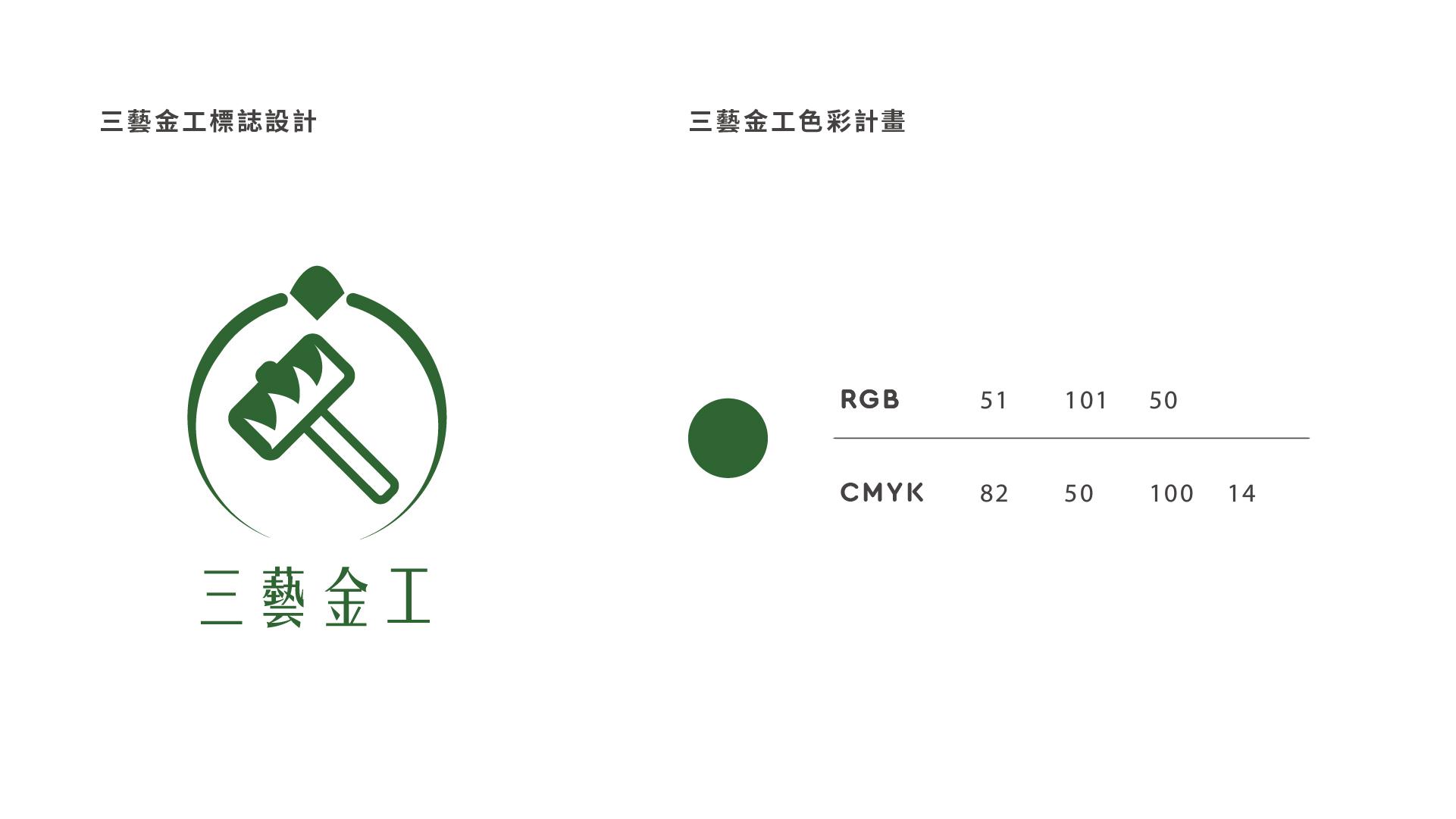 三藝金工 標誌LOGO設計與色彩計畫   甘樂文創   甘之如飴,樂在其中