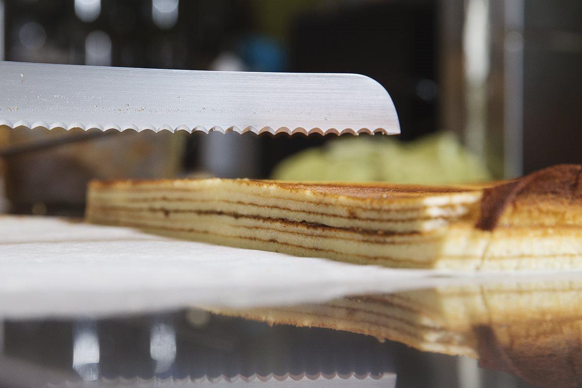 Plum Mille Crepe Cake