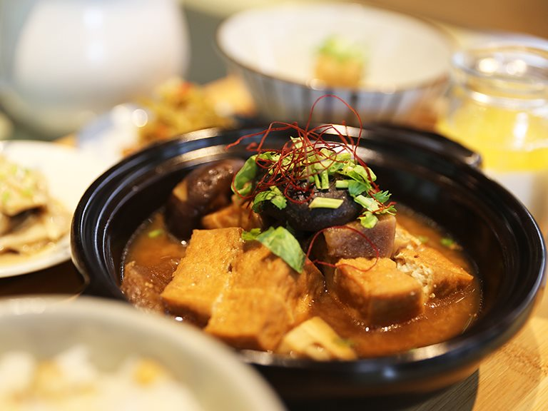 味噌醬筍豆腐煲(純素)