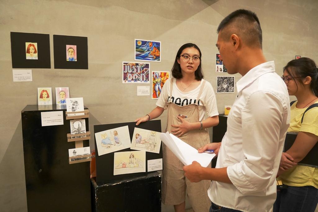 通稿照片03-插畫工作坊成果展讓兩岸學子展現一週密集的學習能量.JPG