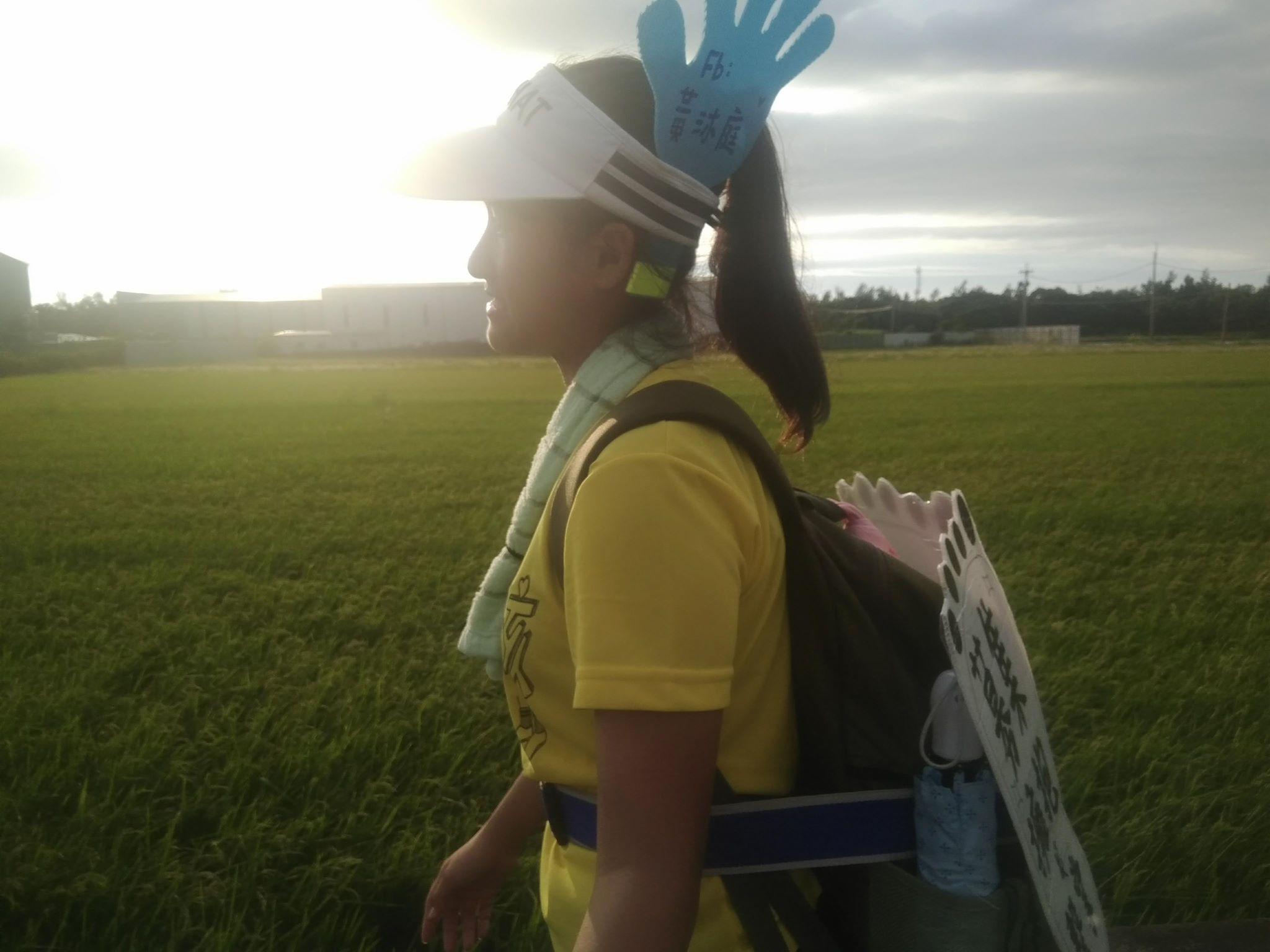 黃沐庭徒步環島為非洲女孩集氣