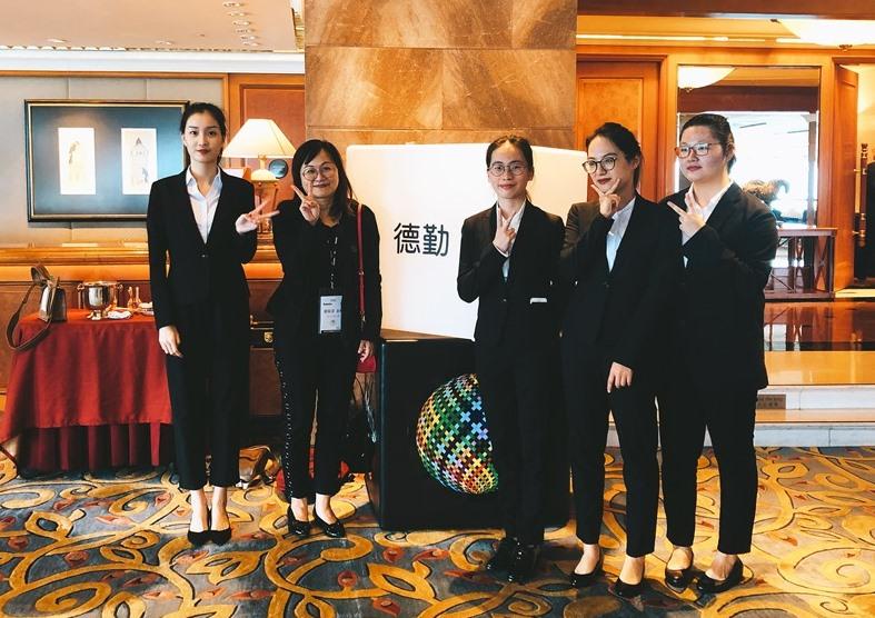 中原會計參賽同學與指導老師合照(左二張敏蕾老師)