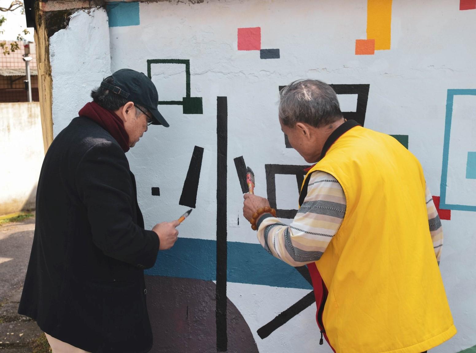 中原大學帶領大小朋友一起參與家園美化,在新的一年帶給竹霄、金城社區嶄新樣貌及色彩.jpg