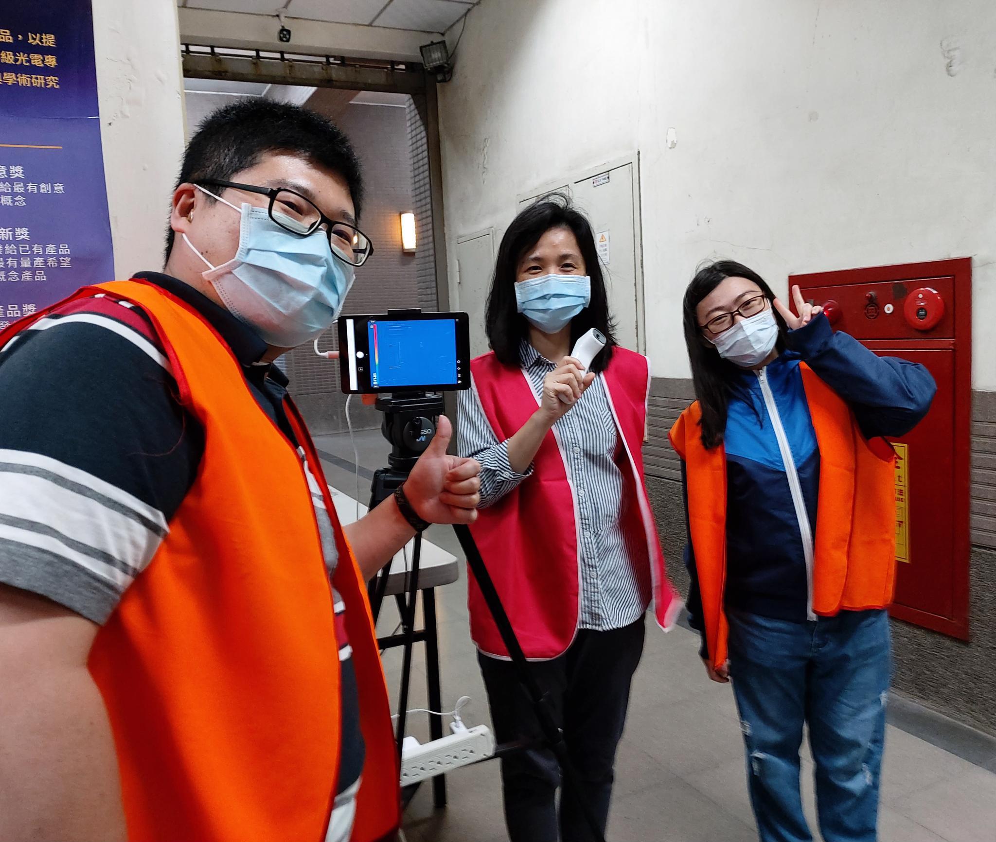 中原大學教學大樓體溫量測站維護防疫安全.jpg
