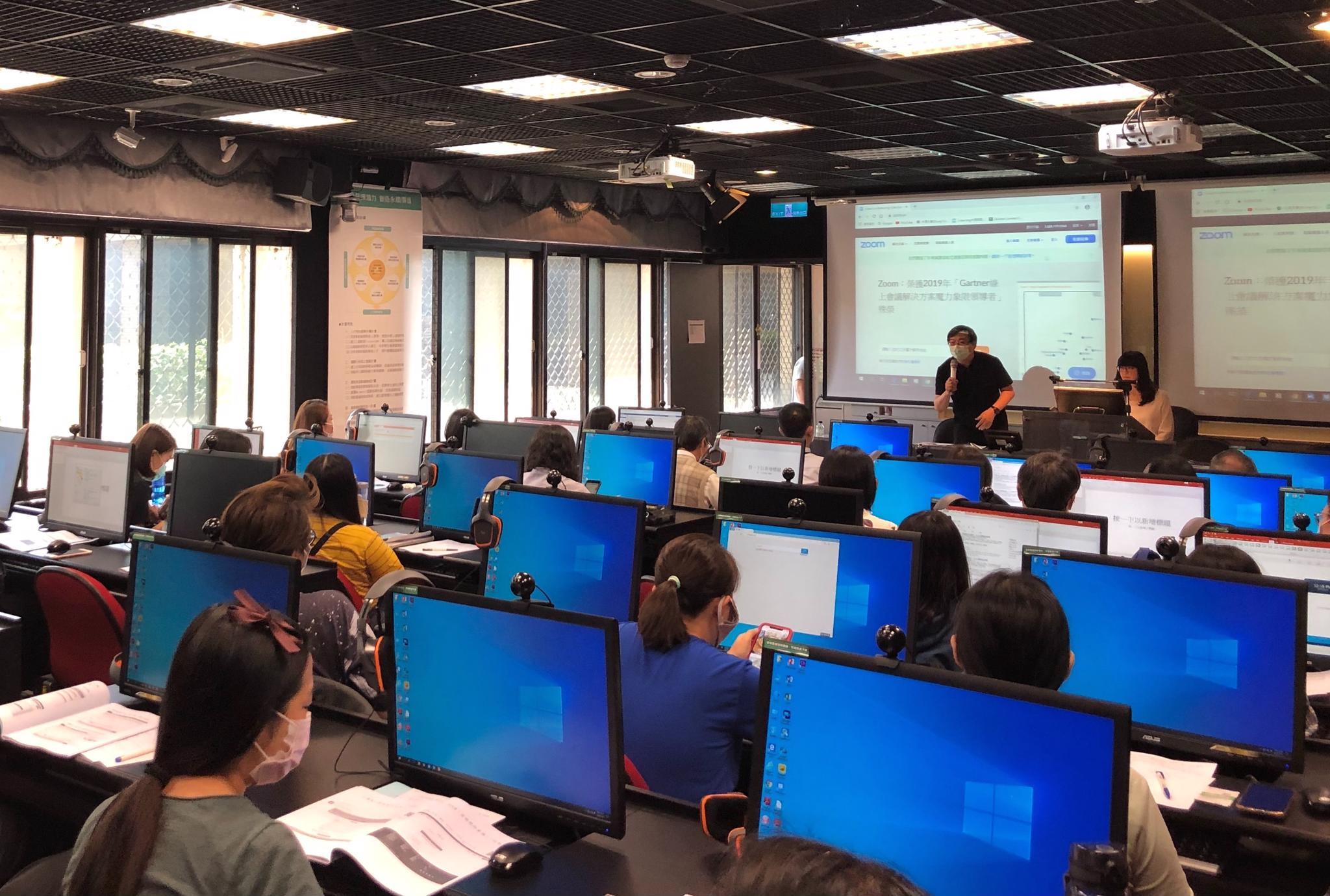 皮世明老師擔任線上教學錄製及平台教學研習活動講師,肯定專、兼任老師認真及用心學習遠距教學的努力.jpg
