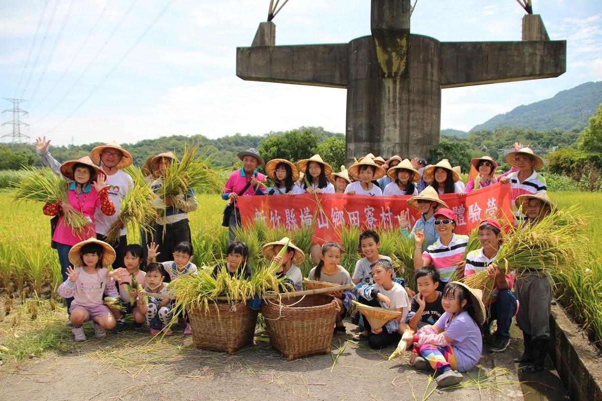 中原大學邀請都會區與在地國小學童走進農田體驗插秧、施肥、收割的農村生活.jpg