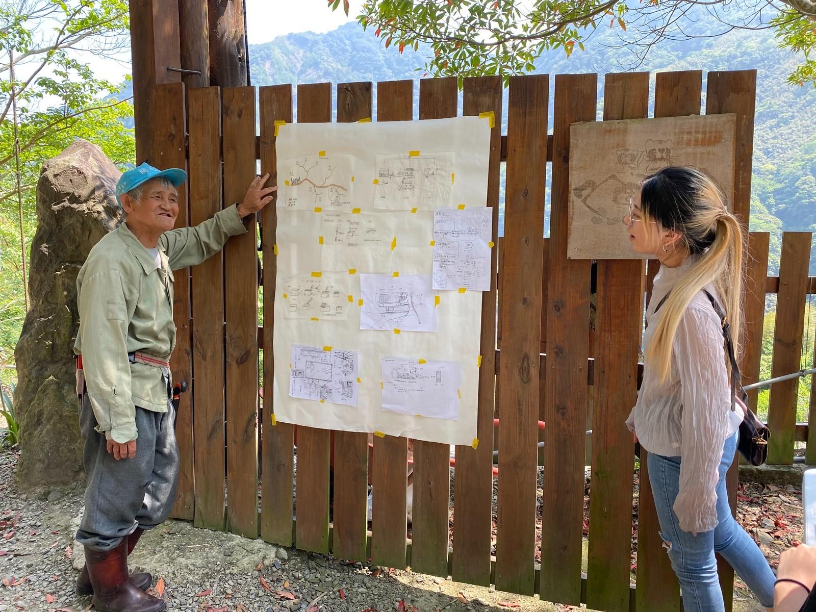 中原大學景觀系「環境體驗」課程師生前往復興鄉調研,和部落居民交流、相互學習。.JPG