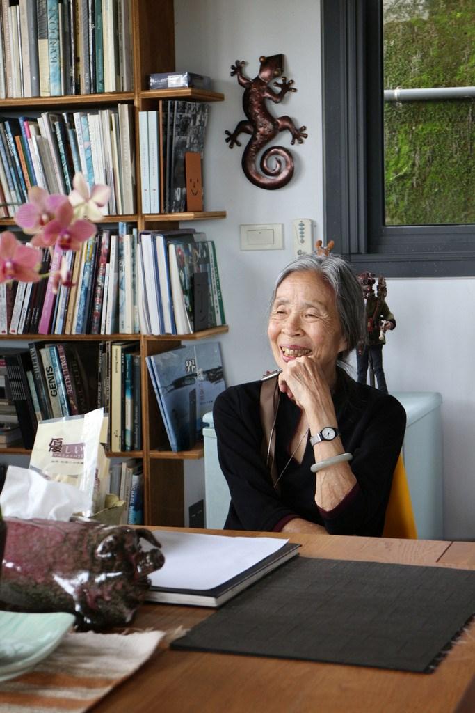 王秋華建築師因愛而行,被譽為「台灣圖書館建築之母」。(中央社檔案照片).jpg