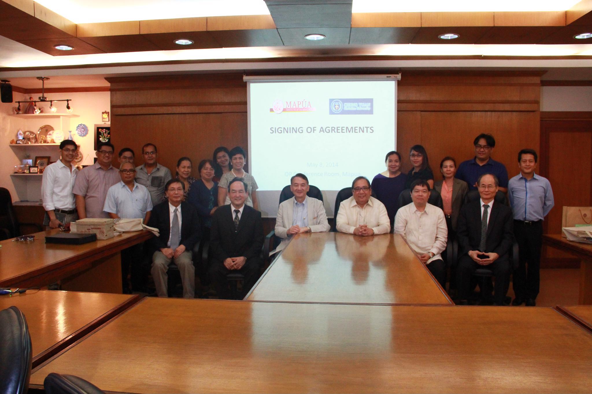 中原大學與菲律賓MAPUA大學簽署學術交流協議 深化兩校合作關係