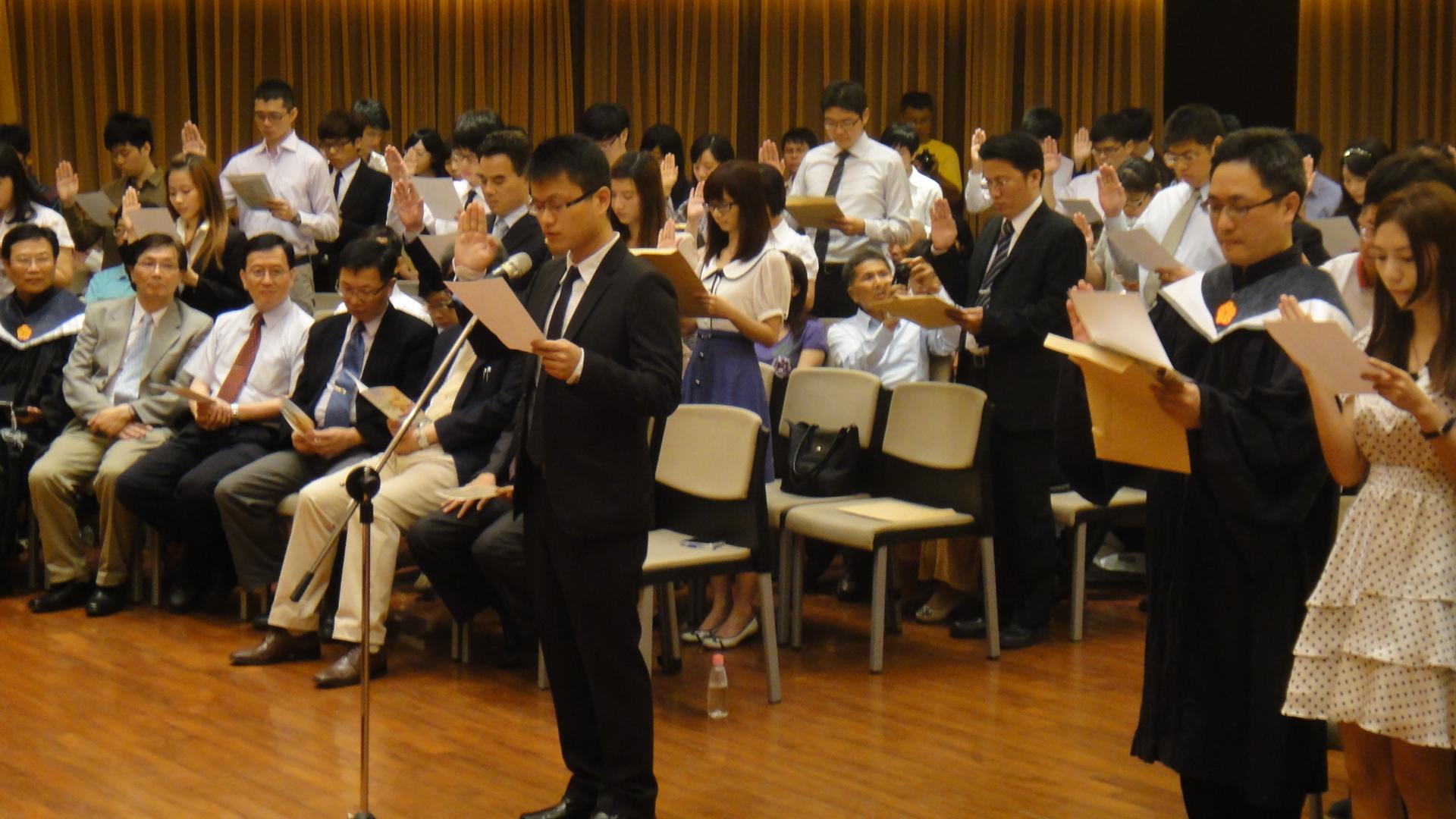 斐陶斐榮譽學會入會典禮 本校畢業生74人榮獲推薦