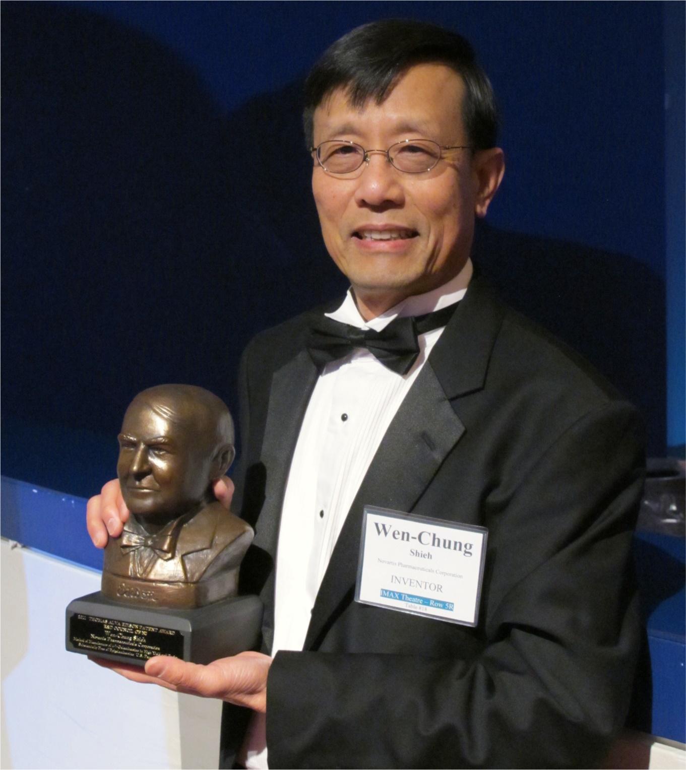 賀!諾華製藥首席科學家謝文忠校友榮獲愛迪生專利獎
