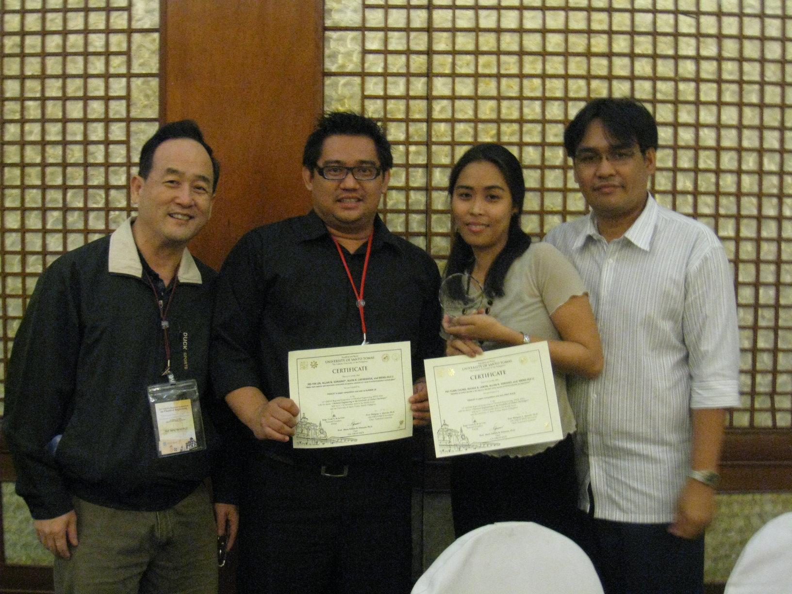 東南亞國際研討會 化工系李夢輝老師率國際學生贏得大獎